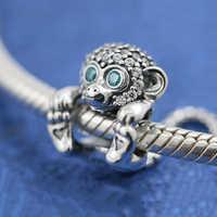 2019 neue 100% S925 Sterling Silber Glanz Frech Affe Perlen für Pandora Armband frauen Schmuck