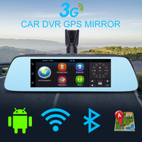 Jansite 7 Touch IPS Android System 3G Car Dvr GPS FHD 1080P Dual Lens DVRs Video