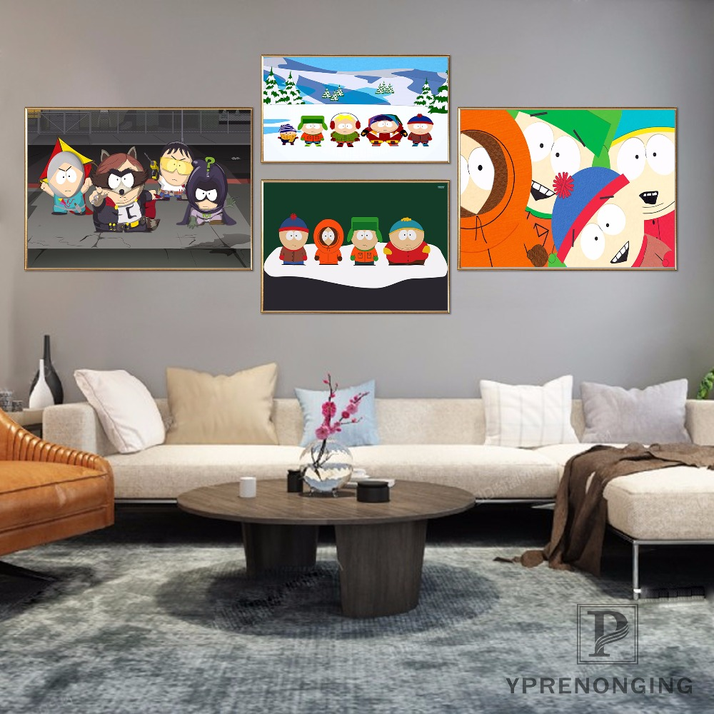 Custom South Park Combat Concept Poster Home Decor Canvas Printing Silk Fabric Print Wal ...