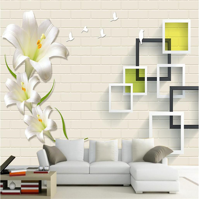 beibehang large custom wallpaper wall murals modern simple flowers floral frame background wall wallpaper for walls