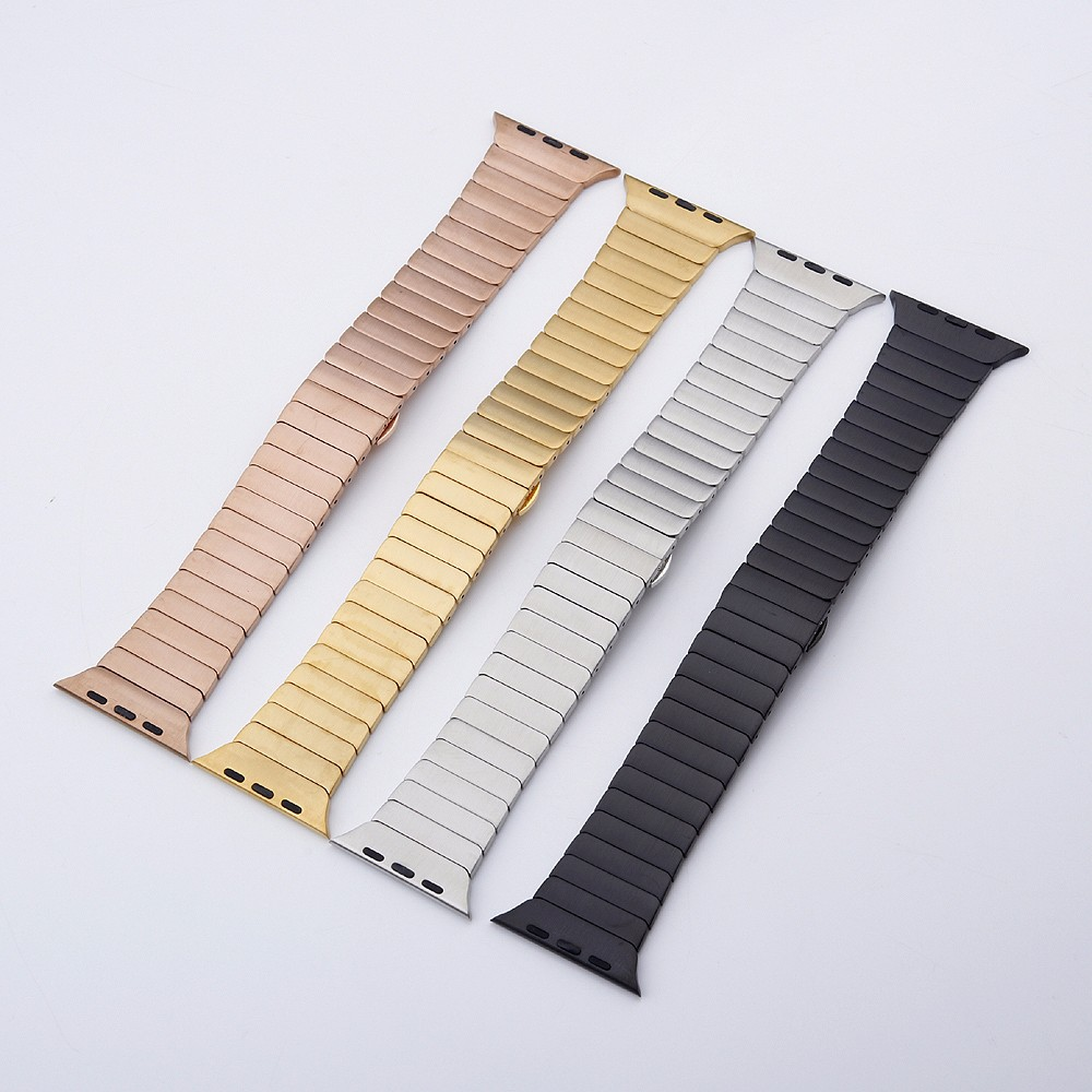 Strap For Apple Watch Band Apple Watch 4 3 5 2 Iwatch Band 42mm 38mm 44mm 40mm Men Bracelet Stainless Steel Watch Accessories