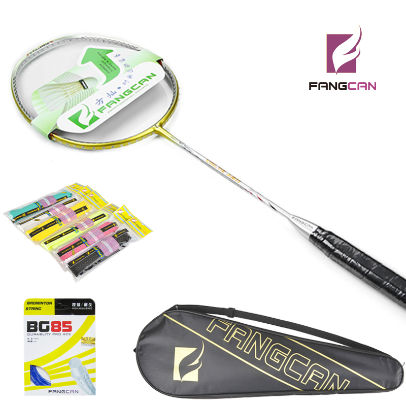 ФОТО 5pcs FANGCAN VOLTE A911 Light Weight Original Badminton Racket Gold Color Heavy Head for Amateur Intermediate & Senior Players