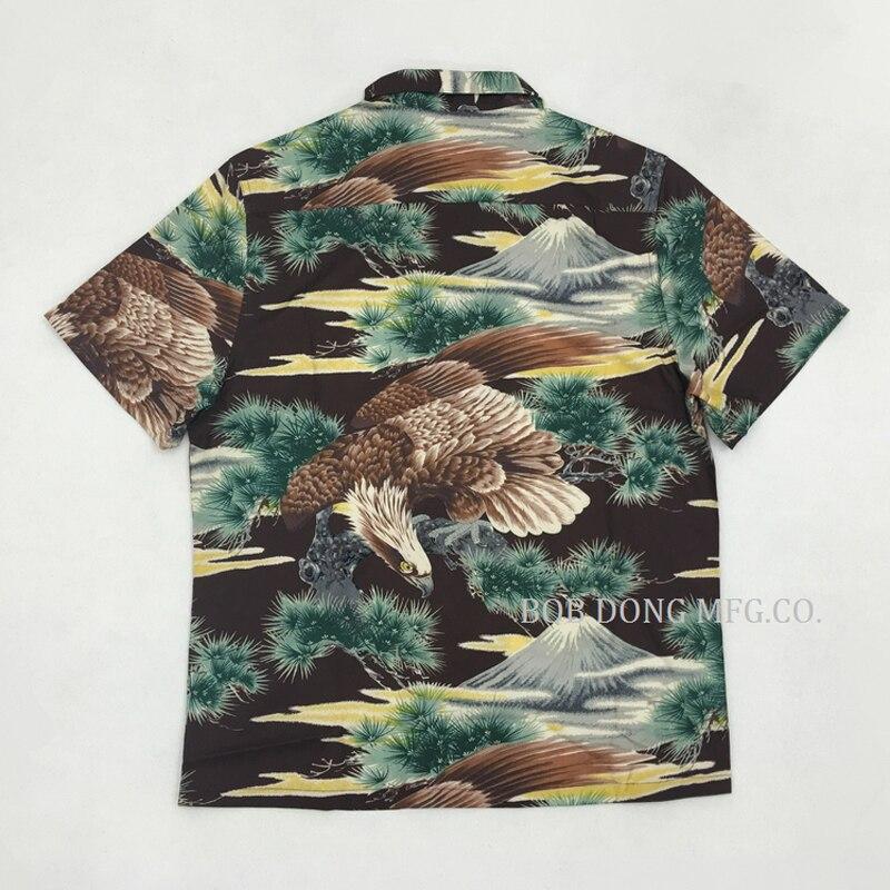 الأمريكية الرجعية جبل فوجي مطبوعة ألوها قمصان للرجال الصيف عارضة قمصان قمم-في قمصان كاجوال من ملابس الرجال على  مجموعة 1