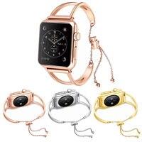 Frauen Mädchen Armband Strap für Apple Uhr SE Band 44mm/40mm/42mm/38mm handgelenk Gürtel für Iwatch Serie 6 5 4 3 2 Luxus Metall Link