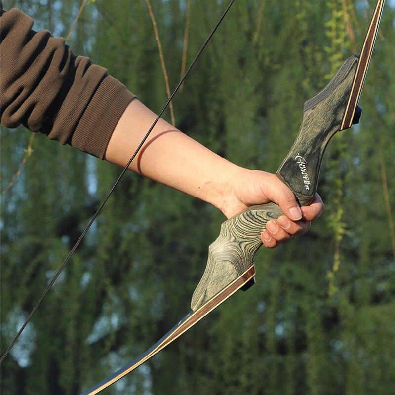 Toparchery 30/40/50lbs 60 pulgadas tomar caza arco de madera vertical arco recurvo arco nueva tecnología miembros arco de tiro al aire libre
