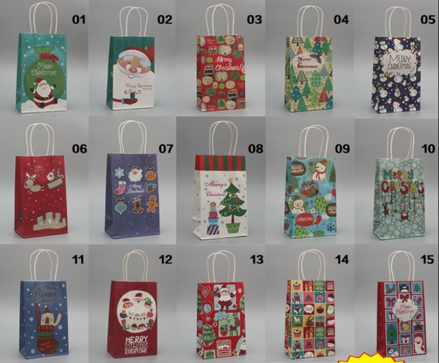 Aliexpress buy new arrival merry christmas paper bags with