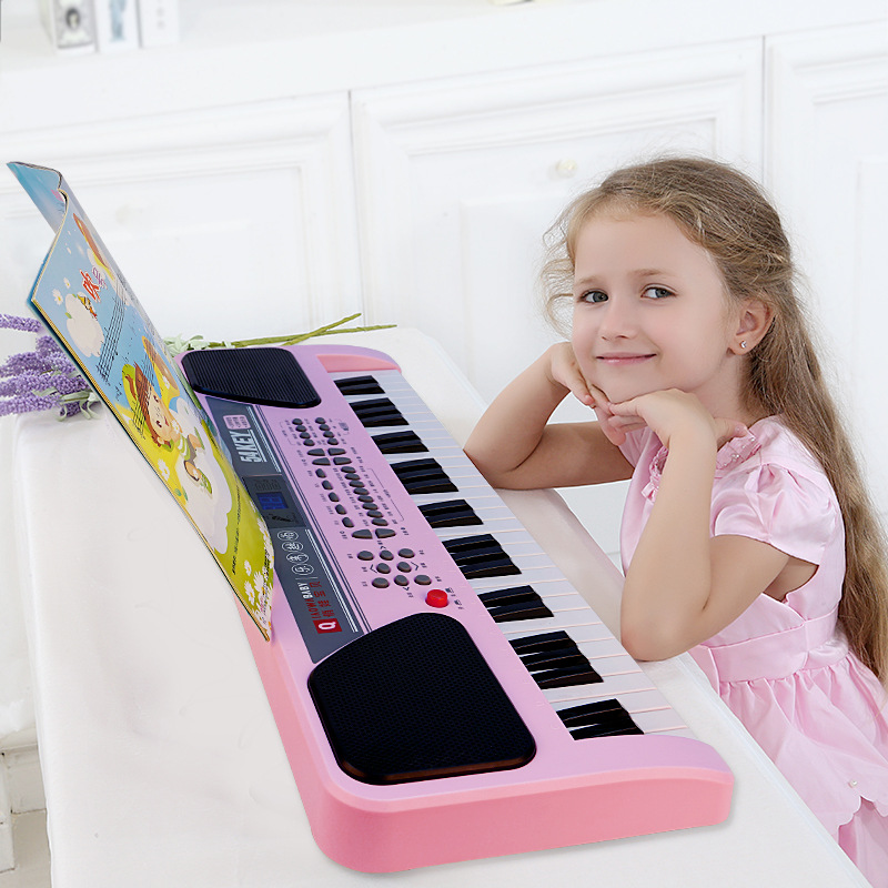 54 Keys Kids Musical Key Board Instrument Piano Instrumento With Microphone the black keys the black keys el camino 2 lp