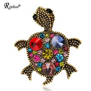 Animal Bronze Tortoise Brooch Pin Jewelry For Women Kids Girls Costume Gifts Birthday Wedding Corsage Dress Coat Accessories