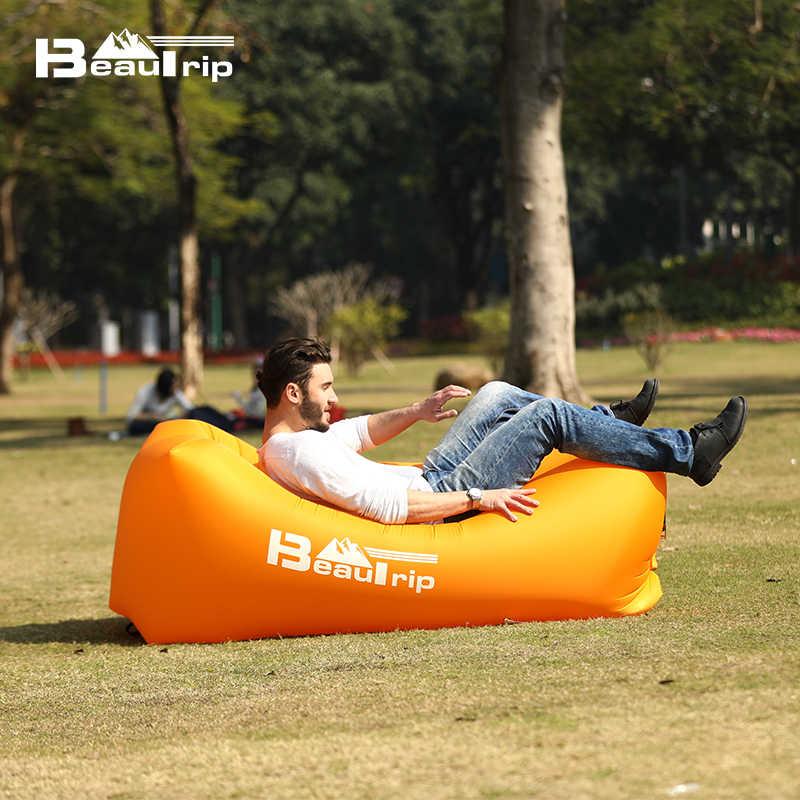 BEAUTRIP, Aire libre, inflable, tumbona, saco de dormir, colchoneta de Camping, sofá, colchón inflable, sillón de Camping, sillón de hamaca de aire