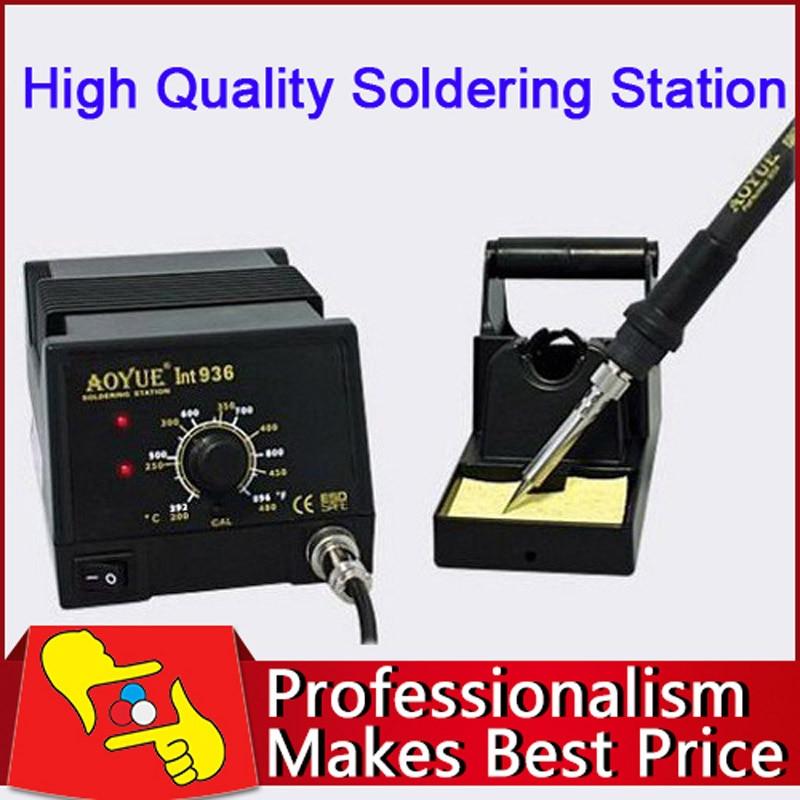 220V Aoyue 936 Soldering station aoyue bga soldering station original solder iron handle soldering station handle 220v 6 pin for aoyue 2702a