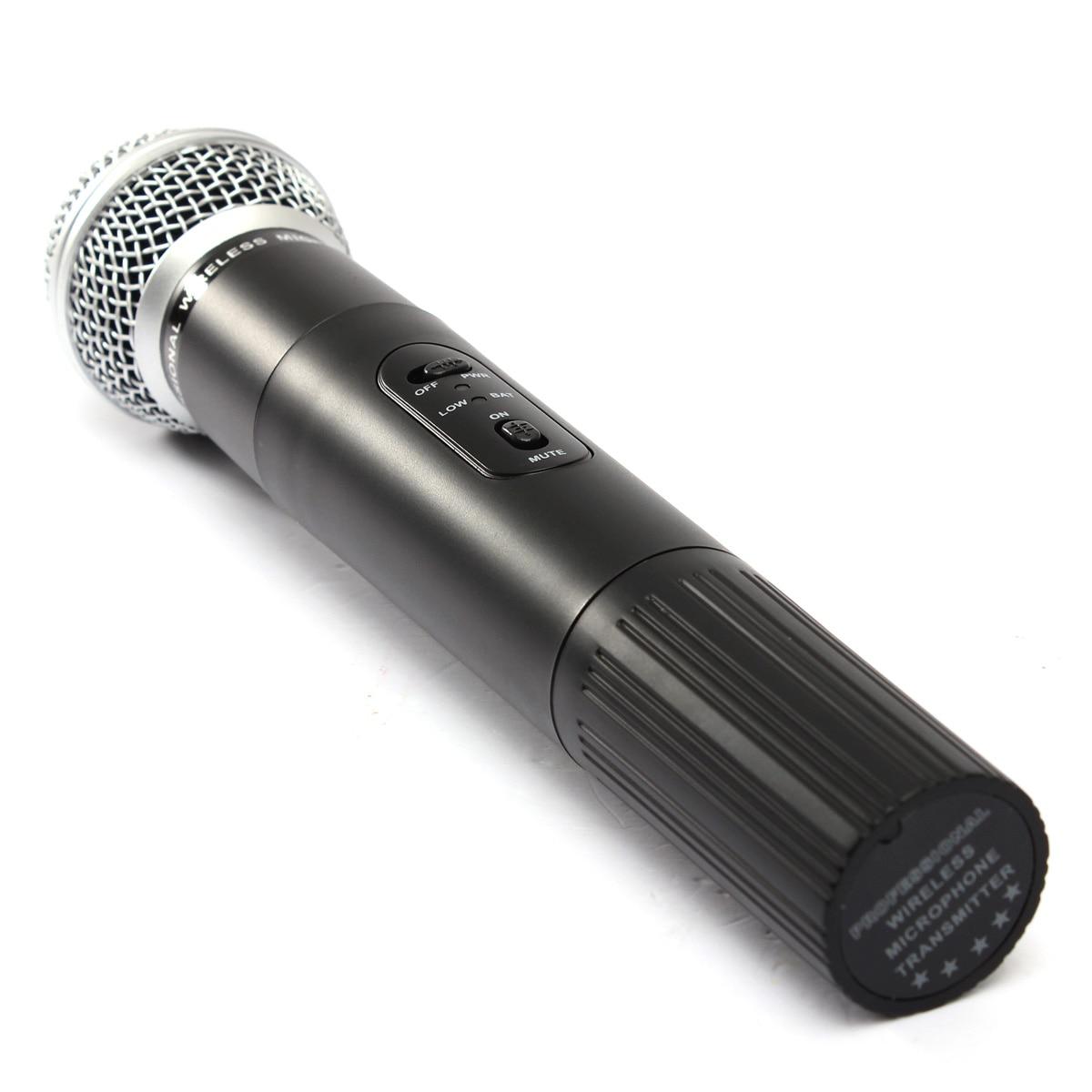 LEORY système de Microphone sans fil karaoké professionnel avec connecteur et récepteur Microphone à condensateur double micro pour le chant KTV - 4
