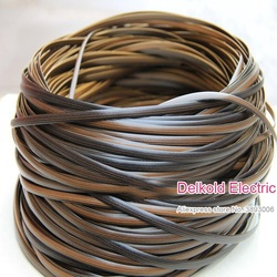 500g Coffee gradient flat synthetic rattan weaving material plastic rattan for knit and repair chair table synthetic rattan
