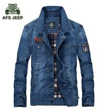 Europäischen Stil Männer Jacken Jeans Casual Mäntel Für Frühling und Herbst Marke Original AFS Jeep Kleidung warm Größe M-4XL