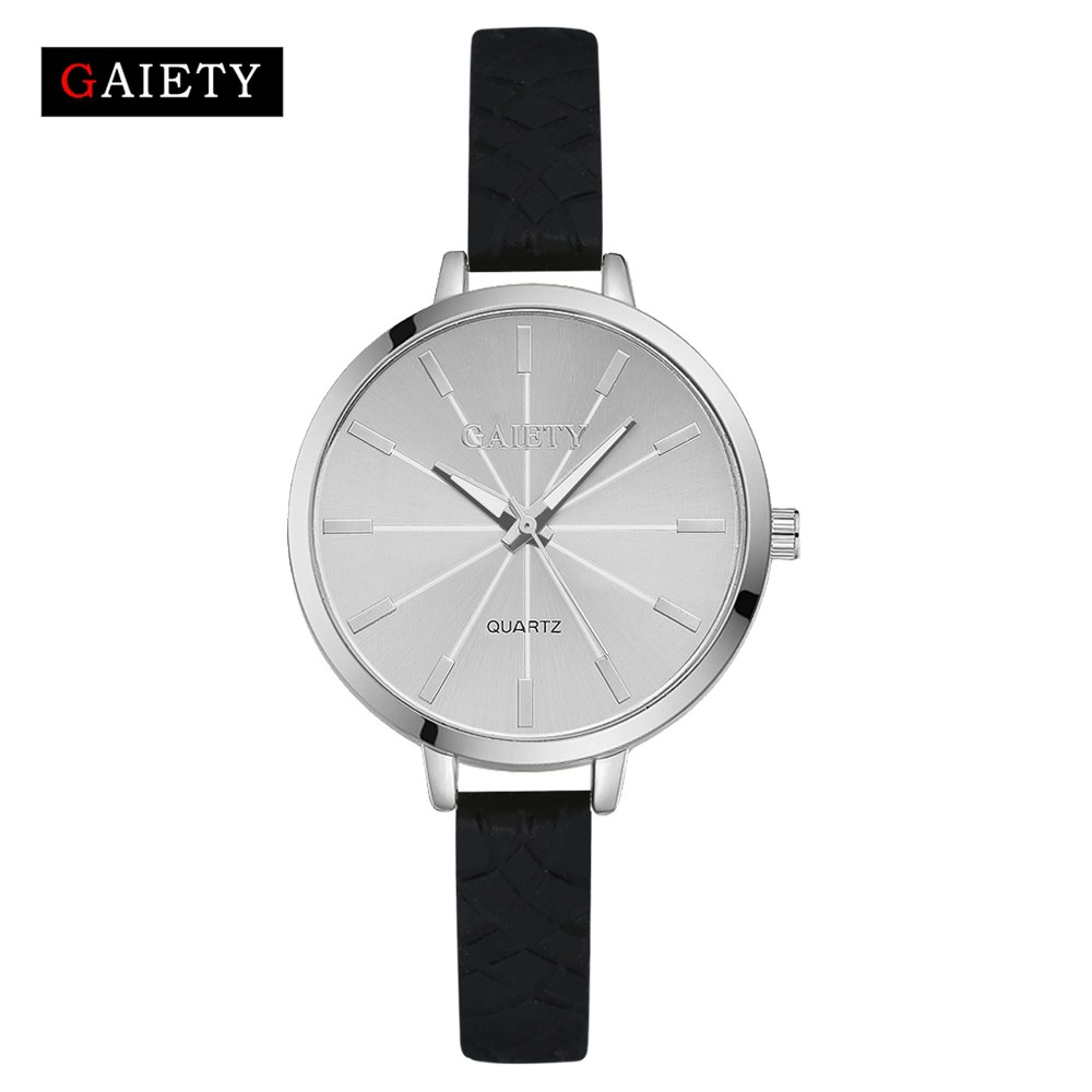 Women Watch 2017 New Fashion Ladies Bracelet Silicone Watches GAIETY Brand Casual Dress Quartz-Watch Clock Sport Wristwatch gaiety women brand watches luxury rose gold leather quartz ladies wristwatches fashion sport women casual dress watch clock g447