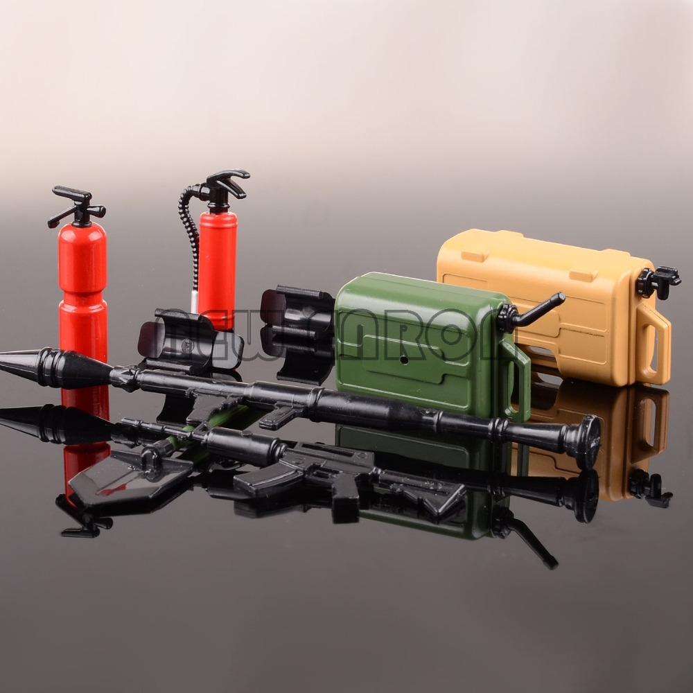 1/10 Scale Rifle Mortar Gun + Fuel Tank + Fire Extinguisher Shovel Set  Rc Car Accessory For Axial SCX10 D90 Wraith TRX-4 CC01 гарнитура для шлема 2 x bluetooth climder c3 fm bt