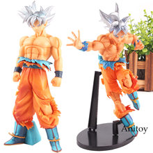 Dragon Ball Super Figure Goku Action Figure Super Saiyan Sliver Hair Son Goku Ultra Instinct Ultra Goku Instinct Toy 26cm(China)