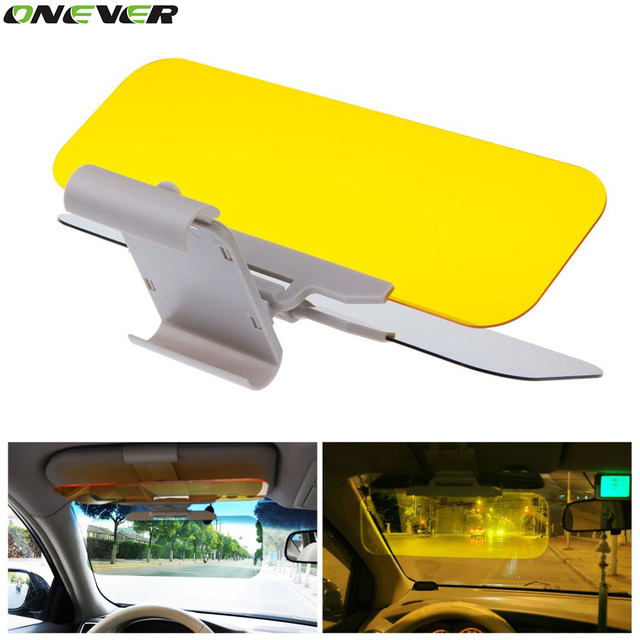 1Pcs Car Sun Visor HD Car Anti-Glare Dazzling Goggle Day Night Vision  Driving Mirror UV Fold Flip Down HD Clear View Visor 616edd5117d