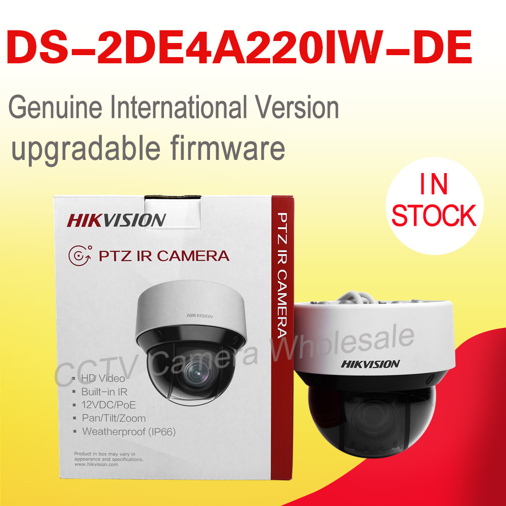 In stock English version DS-2DE4A220IW-DE 20X Optical zoom 2MP Network mini outdoor indoor PTZ Dome Camera POE 50m IR english version hikvision ptz ip camera ds 2de3304w de 3mp network mini dome camera 4x optical zoom support ezviz remote view