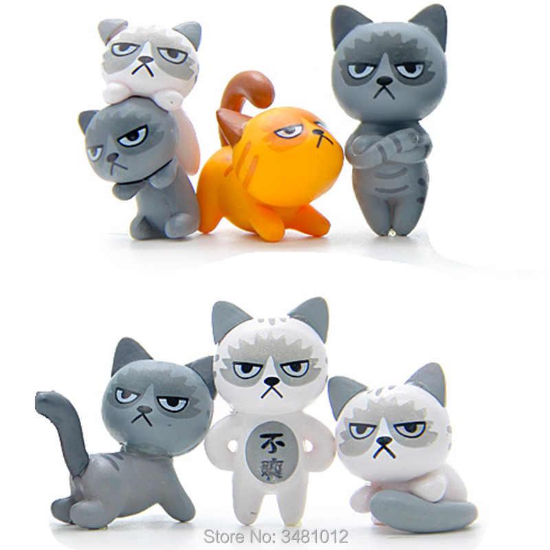 4pcs Game Neko Atsume Cute Cat Figurine Anime Figure Micro Landscape Decor