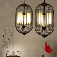 New Chinese iron cage Pendant Lights Antique Hotel house balcony bedroom dining room study room staircase classical LU729335