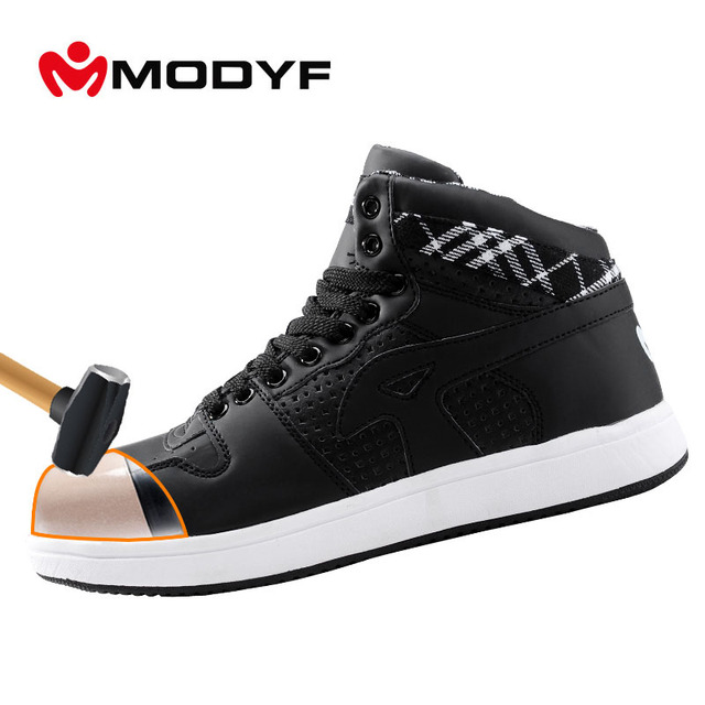 Modyf Men's steel toe cap work safety shoes casual breathable outdoor puncture proof protection footwear