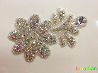Free Shipping WHOLESALE OR RETAIL NEW Rhinestone Chain Sequin Appliques Sequin Fringe Rhinestones Trim STOCK