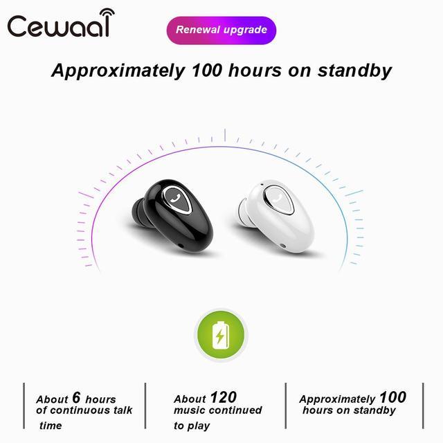 Cewaal Bluetooth Earpbuds Headset Mini Earphones Wireless Headphones Sport Earphone For xiaomi