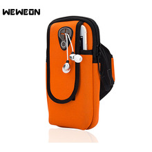 Neoprene Sports Running Arm Mobile Phone Case for 5.5 Inches Phones Outdoor Wrist Running Pouch Armband Case Bag with Strap