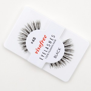 Image 5 - 12 ריסי זוגות מכונף 100% שיער אדם עבודת יד ריסים מלאכותיות איפור ריסים מלאכותיים מינק maquillaje לשימוש חוזר עבור visofree 48