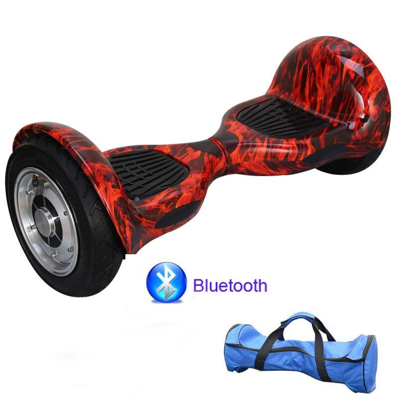 2 roues hoverboard électrique Scooter 10 pouces grand pneu extérieur Camouflage intelligent auto Balance Scooters dérive rouleau planche à roulettes