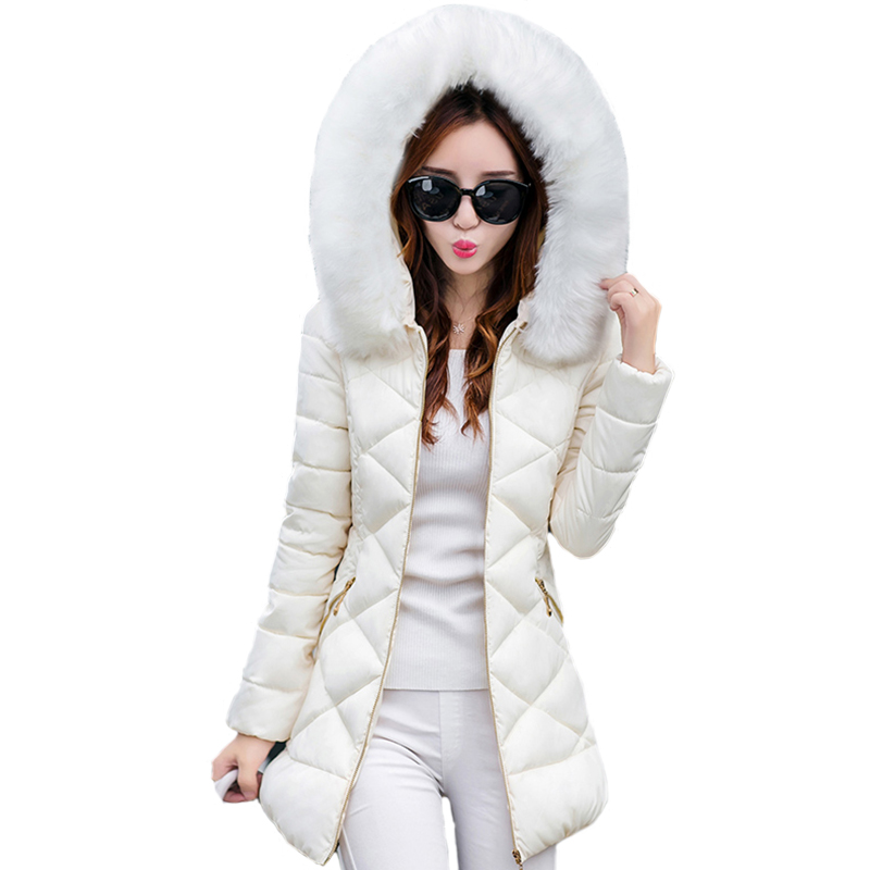 New 2018 Top Quality Women   Parkas   Very Warm Wool Hats Women Winter Coat Fake Fur Hooded Winter Jacket Women Thicken Down Jacket