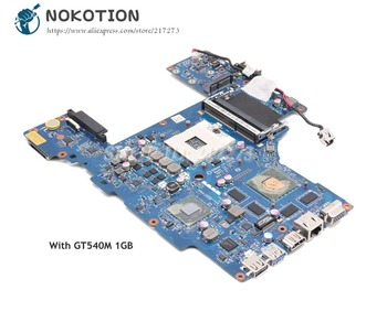 NOKOTION For Toshiba Satellite P770 P775 Laptop Motherboard HM65 DDR3 GT540M 1GB PHRAA LA-7211P K000122840 MAIN BAORD