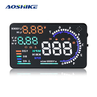AOSHIKE A8 5.5 HUD Car Head Up Display LED Windscreen Projector OBD2 Scanner Speed Warning Fuel Consumption Data Diagnostic