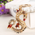 Long Chinese Dragon New Pendant Crystal Charm Purse Handbag Key Ring Keychain Delicate Creative Gift Collection