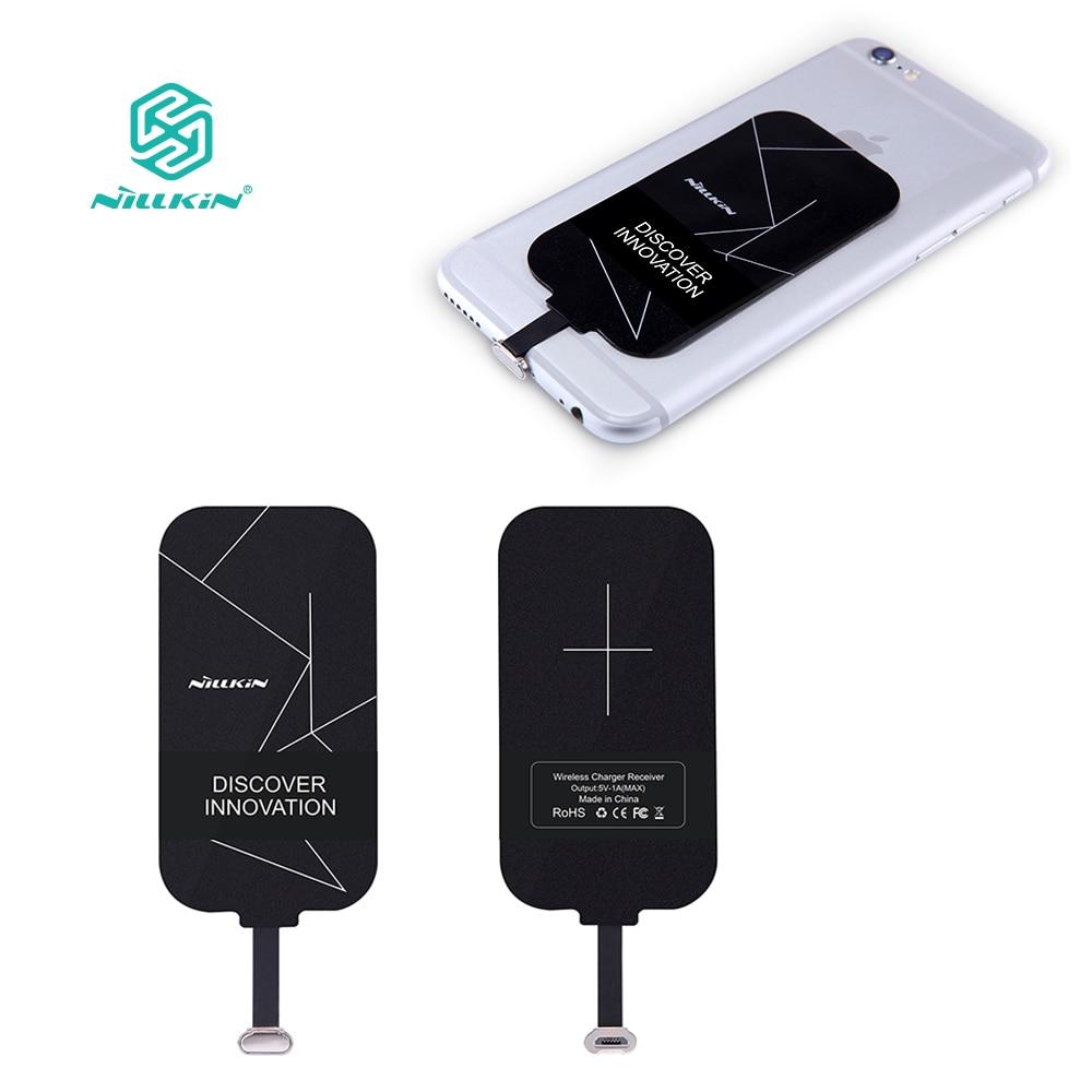 Qi receptor de carga inalámbrico cargador de carga del adaptador receptor pad para iPhone 5S se 6 6 S 7 para redmi /Tipo C