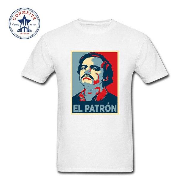 Moda Verão Estilo El Patron Pablo Escobar Camisa Engraçada de T para ...