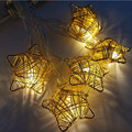 1x 1.6m 10led Handmade Iron Star String Lights Fairy LED Light Ideas Lighting For Christmas Party Home Bedroom Decoration Use