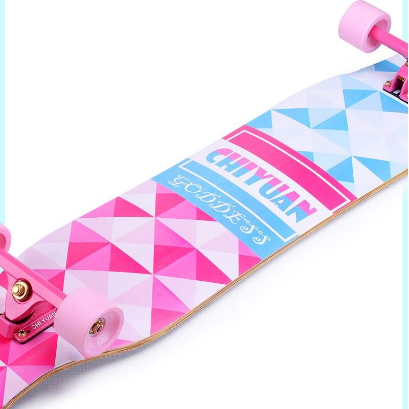 46 Pouce Érable Canadien de Planche À Roulettes Professionnelle Route Longboard Skate Board 4 Roue Descente Rue De Danse Conseil Driftboard - 6