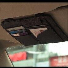 Auto Car Sun Visor Organizer Pouch Bag Card Storage Pen Holder Multi-Purpose Storage Bag Car Organizer Car Styling Accessories