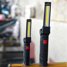 Portable 5 Mode COB Flashlight Torch USB Rechargeable LED Work Light Magnetic COB Lanterna Hanging Tent Lamp Built-in Battery