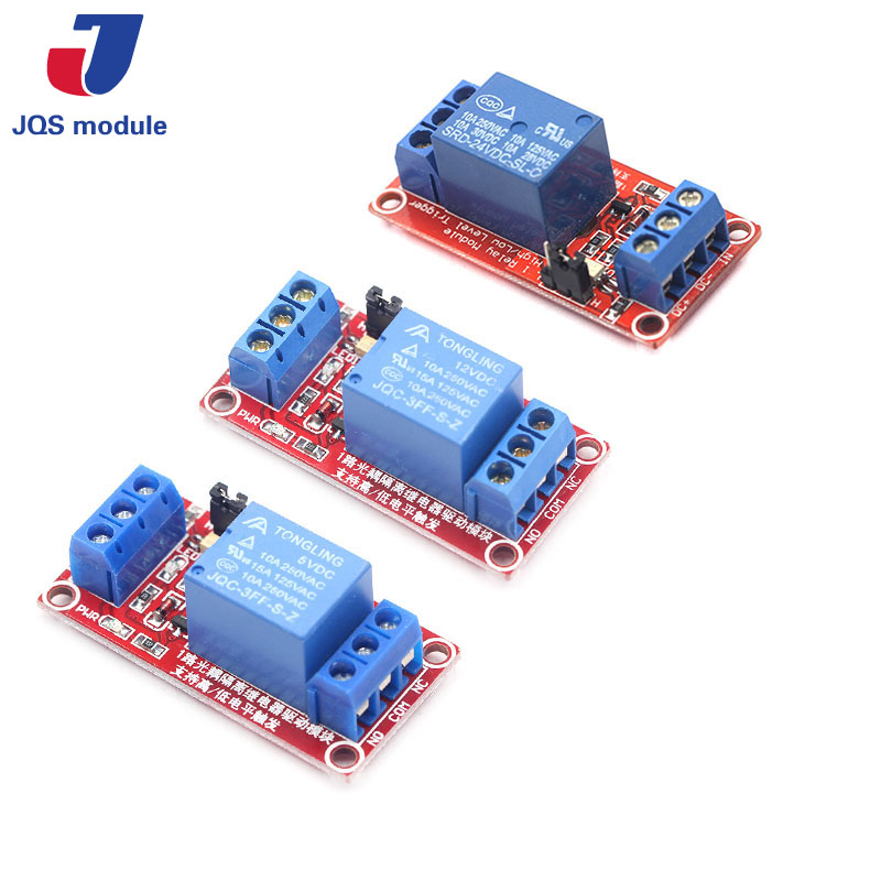 one 1 channel relay module 5V 12V 24V high and low level trigger relay control with optocoupler 3 3v 5v 24v 1 channel relay module low trigger with light relay module