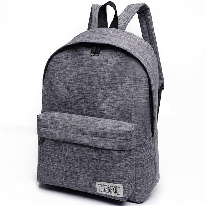 Fashion Simple Canvas Backpack Male High Quality School Laptop Backpack Female Travel Bagpack Casual Stachels Rucksack Mochila