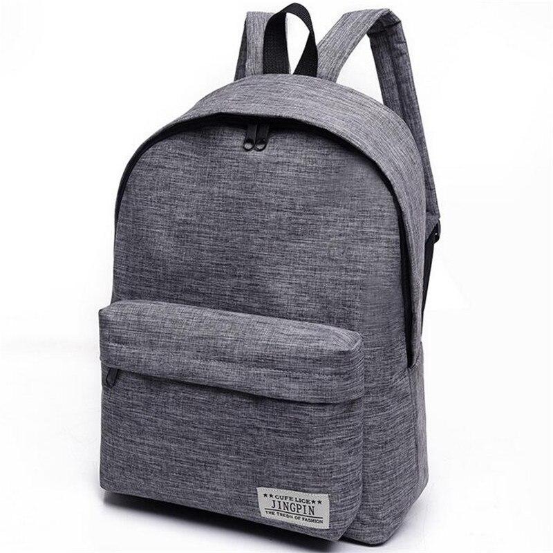 Fashion Simple Canvas font b Backpack b font Male High Quality School font b Laptop b