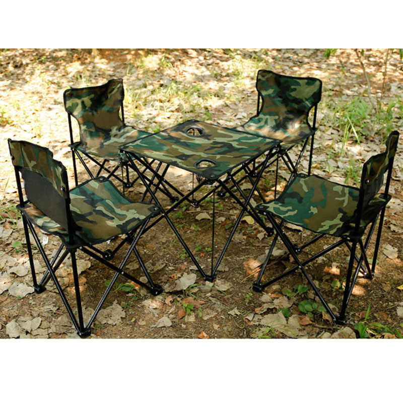 Surprising 5 Pcs A Set Garden Sets 4 Chairs 1 Table Iron Oxford Fast Shipping Thickening Folding Backpack Outdoor Camping Furniture Set Theyellowbook Wood Chair Design Ideas Theyellowbookinfo