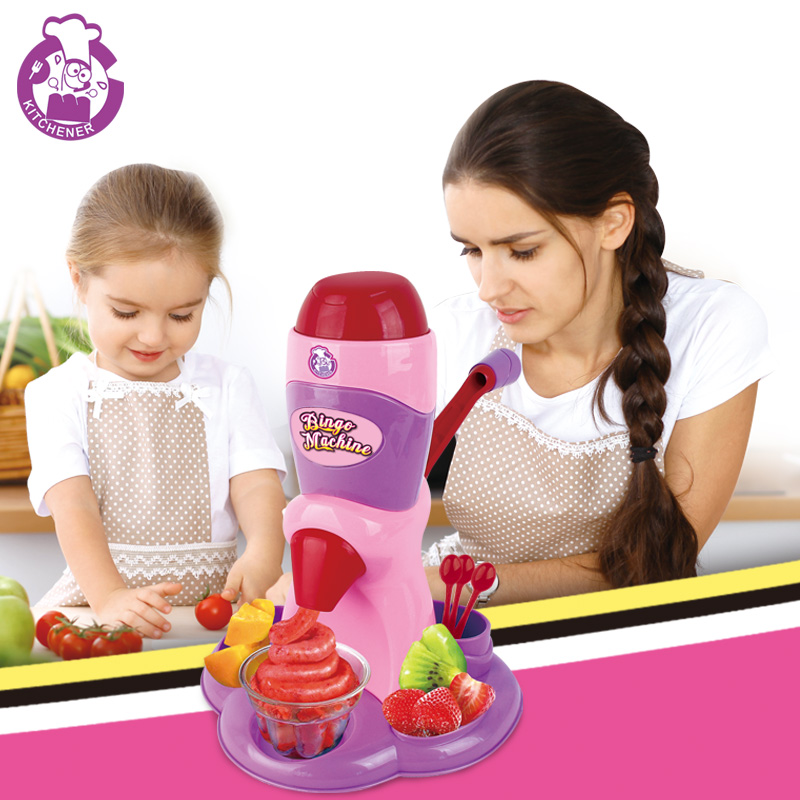 New DIY Kids Ice Cream Machine Model Toy Rubber Mud Clay Maker Tool Pretend Play House Interactive Education Toys for Girl Gift ice cream machine clay mold tool set 13 16pcs childrentoy clay skin mud handmade clay nontoxic pretend play developmental toys