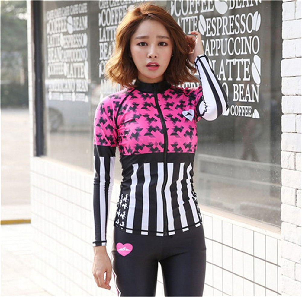 SBART Korean diving suits outdoor surf wear long sleeved anti Sai split floating diving female clothing