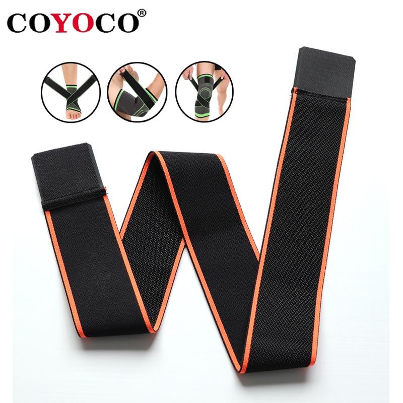 70cm Sports Pressurizable Bandage Elastoplast Elastic Wrap Tape Self Adhesive For Knee Ankle Palm Wrist Elbow Waist