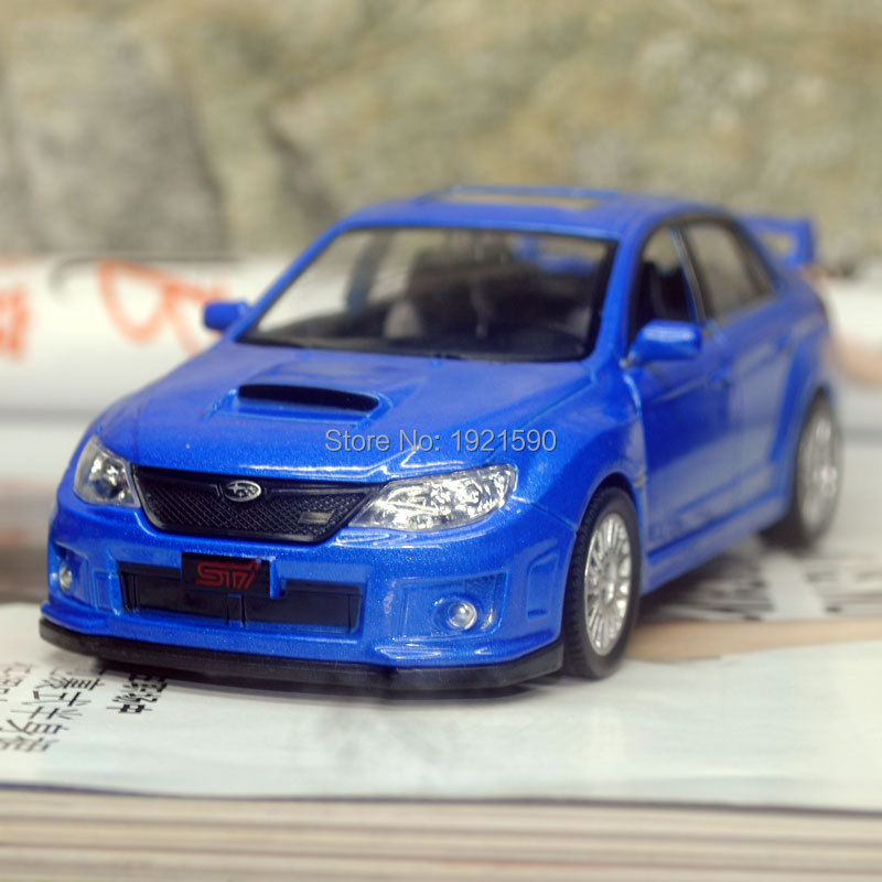 brand new uni 1 36 scale japan subaru sti diecast metal pull back car model toy for gift. Black Bedroom Furniture Sets. Home Design Ideas
