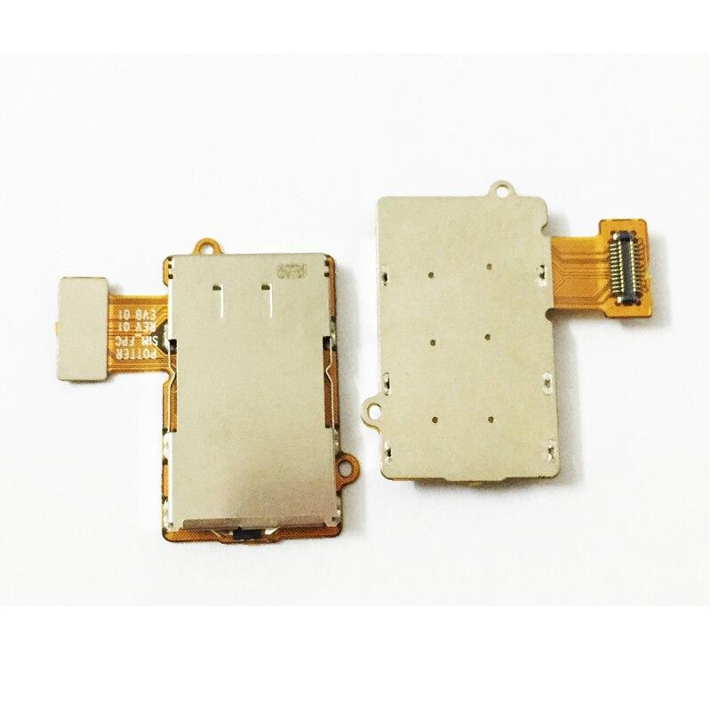 10Pcs/Lot, Original Single SIM SD Card Reader Holder Connector Slot Flex Mobile Phone Cable For MOTO G5 Plus Replacement