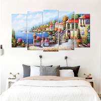 Landscape retro canvas painting classic art prints 5 psc country wall picture for living room restaurant bedroom lobby loft cafe